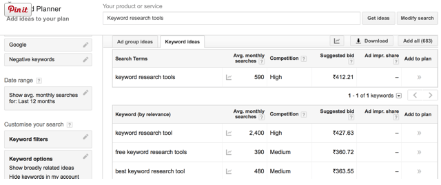 Google Keyword Planner By DotCom Indonesia